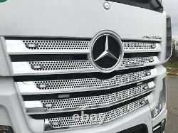 Mercedes ACTROS MP4 Chrome Front Grill 11 pcs STAINLESS STEEL for WIDE CABIN