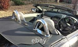 Mercedes Benz SLK R171 Chrome Rollbars Stainless Steel Bars Roll Over Top Bar