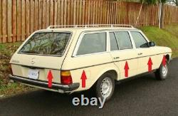 Mercedes Benz W123 300TD WAGOON Door SIDE AND REAR BODY MOULDING CHROME TRIMS