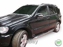 Mercedes ML W163 1998-2005 Side bars CHROME stainless steel side steps