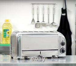 New Dualit Toaster Commercial Catering Six Slot 6 Slice Stainless Steel Chrome