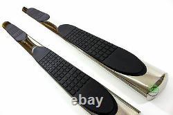 Ovale Side bars Chrome stainless steel side steps for RENAULT KADJAR 2015-2019