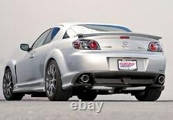 Polished Stainless Steel Cat Back Performance Exhaust Muffler 2003-12 Mazda RX-8
