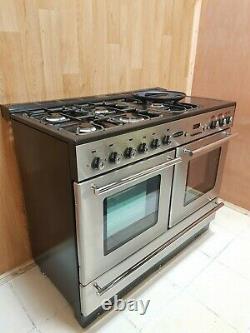 Rangemaster Toledo 110 Xt Range Cooker In Stainless Steel & Chrome. Ref-a123