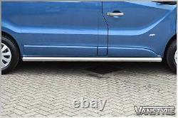 Renault Trafic 01-14 76mm H/duty Lwb Side Bars Chunky Stainless Chrome Steps Van