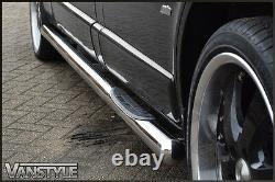 Renault Trafic 2014+ 76mm 3 Step Lwb Side Bars Stainless Steel Chrome Steps Rhd