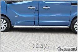 Renault Trafic 2014 Sportline Side Bars Lwb Polished Stainless Chrome Quality