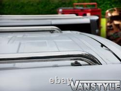 Renault Trafic Lwb 200114 Polished Chrome Stainless Steel Roof Bars Rails Rack