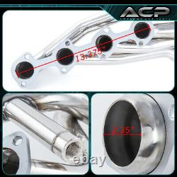 S/S Long Tube Exhaust Manifold Header For 96 97 98 99 00 01 02 03 04 Mustang Gt