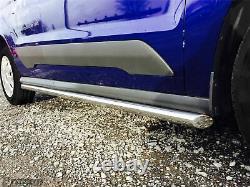 Side Bars For Opel Vauxhall Combo C 2001 -2011 Van Chromed Stainless Tube Skirts