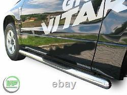 Side bars CHROME stainless steel side step for Suzuki Grand Vitara mk3 3 door