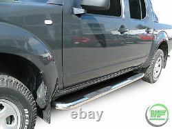 Side bars CHROME stainless steel side steps for Nissan NAVARA D40 2005-2015