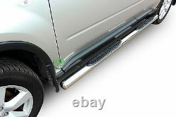 Side bars CHROME stainless steel side steps for Nissan X-Trail T31 2007-2013