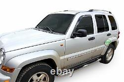 Side bars CHROME stainless steel side steps for SB319 Jeep Cherokee 2001-2006