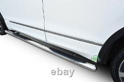 Side bars CHROME stainless steel side steps for VW TIGUAN mk2 2016-up