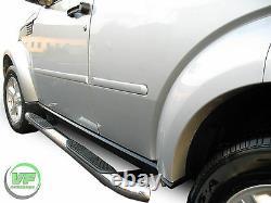 Side bars CHROME stainless steel side steps pair for Dodge Nitro 2007-2012
