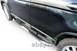 Side bars CHROME stainless steel side steps pair for Honda CR-V mk3 2006-2012