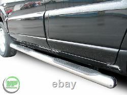 Side bars CHROME stainless steel side steps pair for Kia Sportage 2004-2010