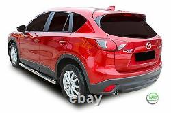 Side bars CHROME stainless steel side steps pair for MAZDA CX-5 CX5 2011-2016