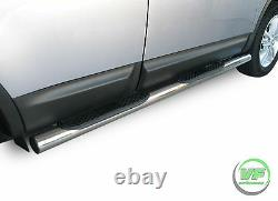 Side bars CHROME stainless steel side steps pair for Nissan Qashqai 2007-2013