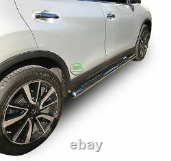 Side bars CHROME stainless steel side steps pair for Nissan X-Trail T32 2014-up