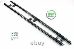 Side bars CHROME stainless steel steps pair for VW CADDY 2003-2015