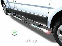 Side bars Chrome stainless steel side bars for VAUXHALL VIVARO SWB 2001-2014