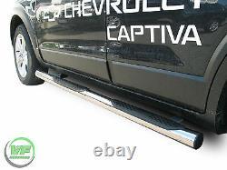 Side bars Chrome stainless steel side steps for CHEVROLET CAPTIVA 2006-2016