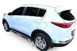 Side bars Chrome stainless steel side steps for KIA SPORTAGE 2015-up