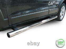 Side bars Chrome stainless steel side steps for VAUXHALL ANTARA 2006-2015