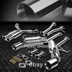 Stainless Dual Cat Back Exhaust 4.5 Rolled Tip Muffler For 350z Infiniti G35