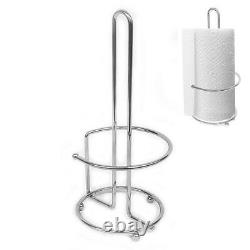 Stainless Steel Kitchen Tissue Paper Towel Roll Dispenser Holder Stand Pole UKED