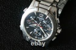 Tissot Pr100 Men's Chronograph Watch Black Dial With Stainless Strap A Classic