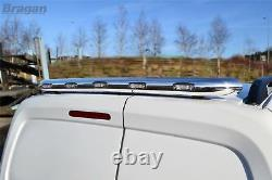 To Fit 06-14 Mercedes Sprinter Chrome Stainless Steel Rear Roof Light Bar + LEDs