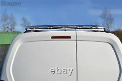 To Fit 14-18 Mercedes Sprinter Chrome Stainless Steel Rear Roof Light Bar + LEDs