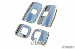 To Fit 2011+ Mercedes Atego Stainless Steel Mirror Covers Truck 4 Piece Set