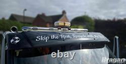 To Fit 2014+ Ford Transit MK8 Stainless Steel Chrome Front Roof Light Bar + LEDs