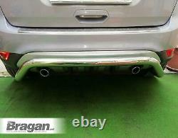 To Fit 2016 2019 Ford Kuga Stainless Steel Chrome Rear Bumper Bar Protection