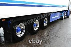 To Fit Universal Truck Trailer 22.5 Wheel Trim Covers Sleeve x6 Alloy Stainless