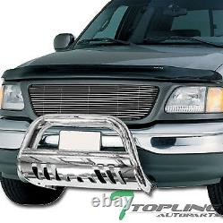 Topline For 1997-2003 F150/Expedition Bull Bar Bumper Grille Guard Stainless