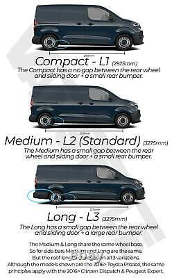 Toyota Proace 2016 L2 Mwb L3 Lwb Polished Chrome Stainless Steel Side Bar Steps