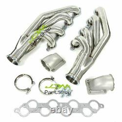 Turbo Exhaust Manifold&Headers for LS1 LS6 LSX GM V8+Elbows T3 T4 to 3.0 V Band