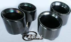 Twin Black Chrome Exhaust Tail Pipe 4 Pair Of Quality Stainless Steel Trim Tips