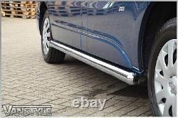 Vauxhall Vivaro 01-14 76mm H/duty Lwb Side Bars Chunky Stainless Chrome Steps
