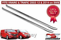 Vauxhall Vivaro 01-14 Sports Side Bars Swb Chrome Stainless Steel Oem Quality