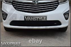 Vauxhall Vivaro 1419 Front Bumper Grille Black Stainless Mesh Grill Not Chrome