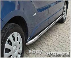 Vauxhall Vivaro 1419 Sportline Side Bars Lwb Polished Stainless Chrome Quality