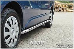 Vauxhall Vivaro 1419 Sportline Side Bars Swb Polished Stainless Chrome Quality