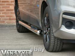 Vauxhall Vivaro 201419 76mm Swb 3 Step Side Bars Stainless Steel Chrome Steps