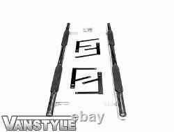 Vauxhall Vivaro 2019 Polished Chrome Stainless Steel 60mm Side Bar Steps